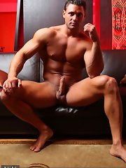 With hard muscle and an even harder cock, Mike Buffalari is the total package.