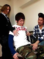 Tatsushi , Kosuke and Masataka in Grindr Orgy Boys