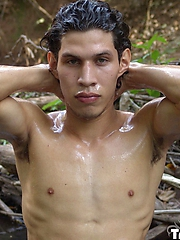 Ricardo has the chiseled good looks of a model. His green eyes ...