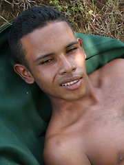 From his lightly fuzzy, toned body, down to that dark bush that ...