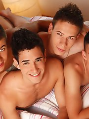 Gang Bang: Passive Israeli Stud Worked Over By 3 Of Our Exclusive Czechs!